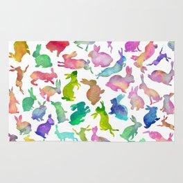 Watercolour Bunnies Rug