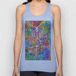 Atlanta Georgia City Map Unisex Tank Top