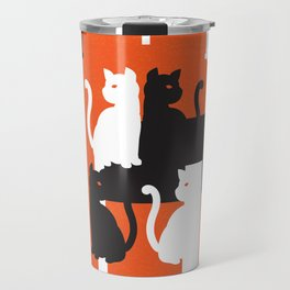 Cat in De Stijl - Halloween Edition Travel Mug