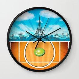Paris Tennis Wall Clock