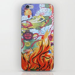 Burnin' Paper Full Canvas iPhone Skin
