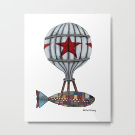 When Submarines Fly Metal Print
