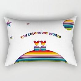 You Colour My World Rectangular Pillow