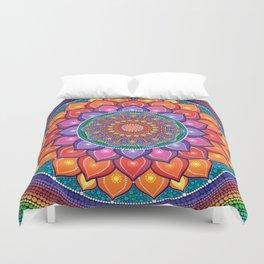 Lotus Rainbow Mandala Duvet Cover