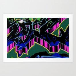 Grafitti_freewall9 Art Print