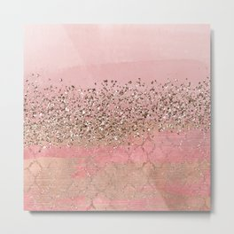 Pink Moroccan Princess Metal Print