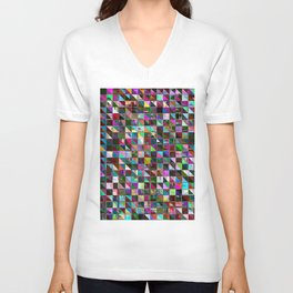 glitch color pattern Unisex V-Neck