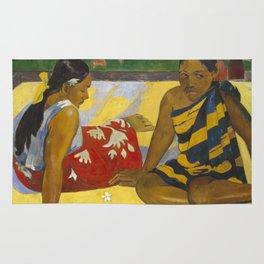 Parau Api / What's news? by Paul Gauguin Rug