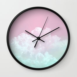 Dreamy Candy Sky Wall Clock