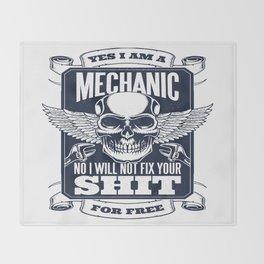 MECHANIC QUOTE Throw Blanket