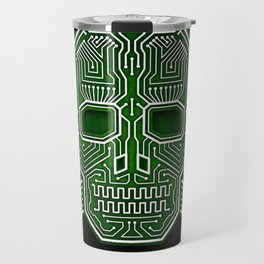 Hacker Skull Crossbones (isolated version) Travel Mug