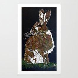 Hare Today Art Print