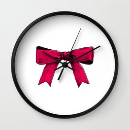 redpink ribbon Wall Clock