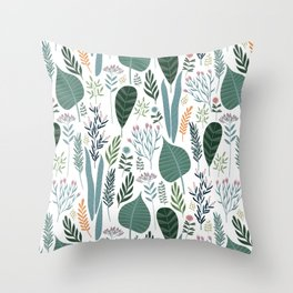 Early Spring Thaw In The Flower Garden Pattern Throw Pillow