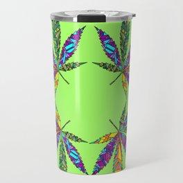 Patchwork Pot Leaves Travel Mug