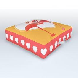 lovebirds - flamingos in love Outdoor Floor Cushion