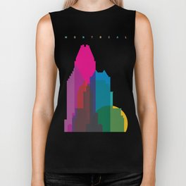 Shapes of Montreal. Accurate to scale. Biker Tank
