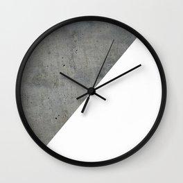Concrete Vs White Wall Clock