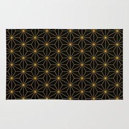 Asanoha -Gold & Black- Rug