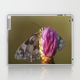 MARBLED WHITE BUTTERFLY Laptop & iPad Skin