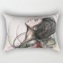 Beauty Illustration Beautiful Woman Feminine Portrait Rectangular Pillow