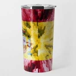 Extruded Flag of Spain Travel Mug
