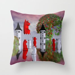guardians of chess castle Throw Pillow