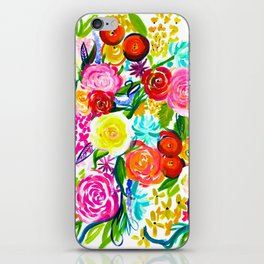 Bright Colorful Floral painting iPhone Skin