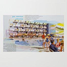 1950's Retro Hotel Wildwood Rendering,  Wildwood, New Jersey Rug