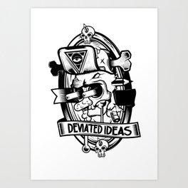 Deviated Ideas Art Print