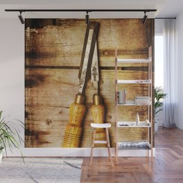 Old Chisels Wall Mural