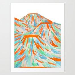 Volcanic Landscape Art Print