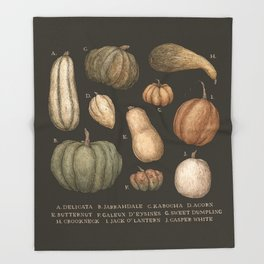 Pumpkins and Gourds Throw Blanket
