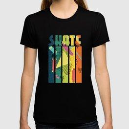 Skateboarder Retro Skater Vintage Geometric Pattern T-shirt