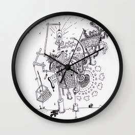 Walking Home Contraption Wall Clock