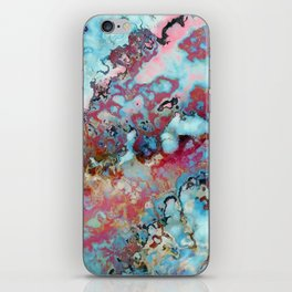 Colorful abstract marble II iPhone Skin
