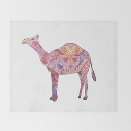 Henna Camel Throw Blanket