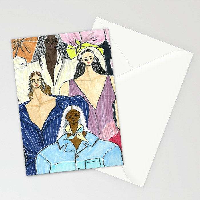 Diversity is the New Chic – Original Fashion art, Fashion Illustration, Fashion wall art Stationery Cards
