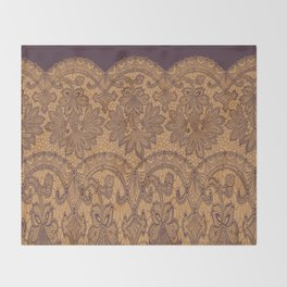 lace border stretched tonal Throw Blanket