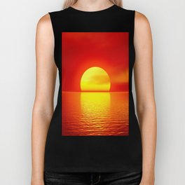 sun set home decor Biker Tank