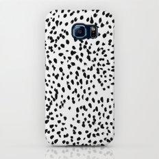 Nadia - Black and White, Animal Print, Dalmatian Spot, Spots, Dots, BW Galaxy S8 Slim Case