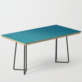 Wave pattern in teal Coffee Table