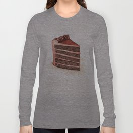 Chocolate Layer Cake Slice Long Sleeve T-shirt