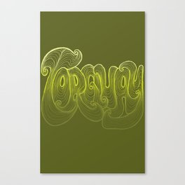 Torquay Typography - Lime Punch Canvas Print