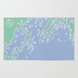 Casco Bay Maine USA Rug