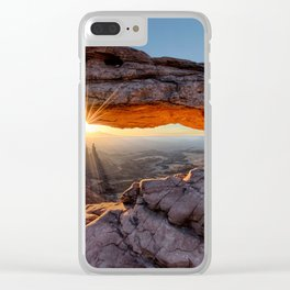 Mesa Arch Sunburst  by Lena Owens Clear iPhone Case
