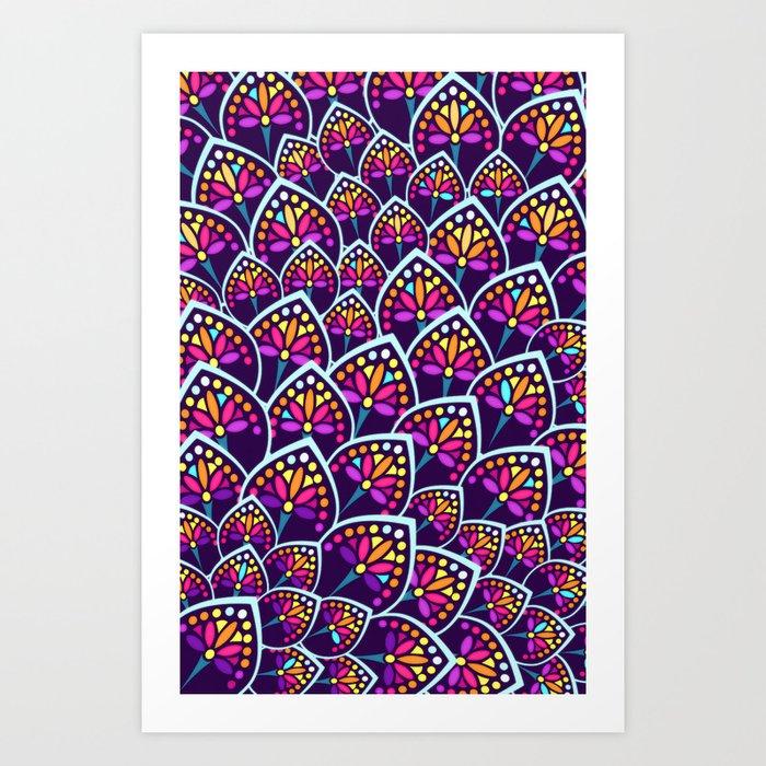 Madeleine Pattern Art Print