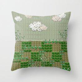 First greens Throw Pillow