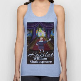 Hamlet by William Shakespeare cartoon poster Unisex Tank Top