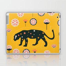 Fantastic jaguars and flowers Laptop & iPad Skin